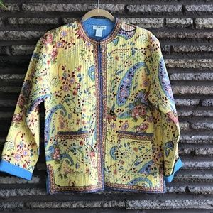 Orvis Yellow Patterned Quilted Softshell Jacket
